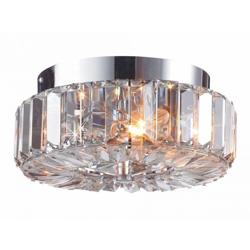 Markslöjd Plafondi Ulriksdal Ø 230x110 mm kromi/Brilliant-kristalli IP21