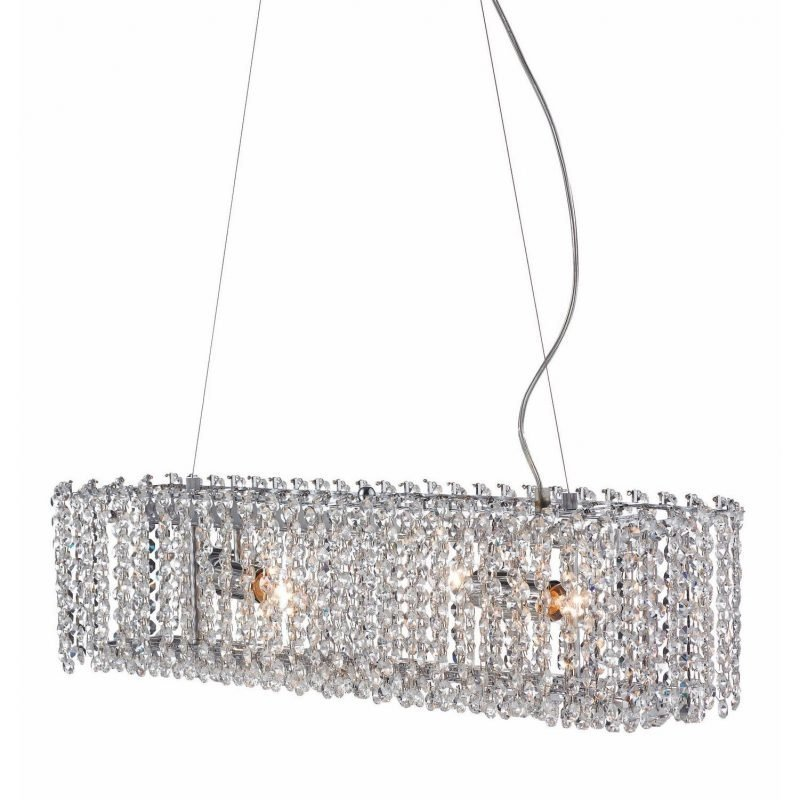 Markslöjd Riippuvalaisin Trollenäs 730x140x160 mm kromi/Brilliant-kristalli