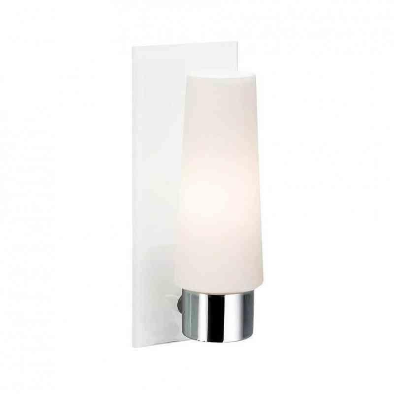Markslöjd Seinävalaisin Månstad 90x230 mm kromi/valkoinen/opaali IP44 (kylpyhuonevalaisin)