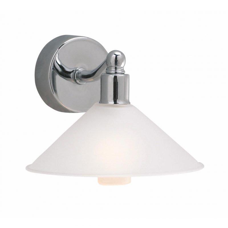 Markslöjd Seinävalaisin Rosa 140x100 mm kromi/valkoinen lasi IP44 (kylpyhuonevalaisin)