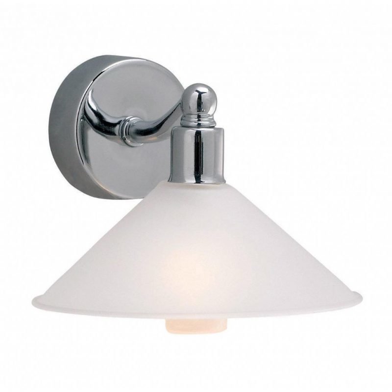 Markslöjd Seinävalaisin Rosa 140x100 mm teräs/valkoinen lasi IP44 (kylpyhuonevalaisin)
