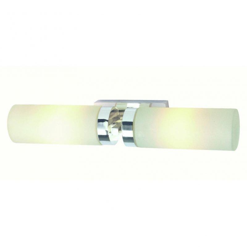 Markslöjd Seinävalaisin Stella 360x70 mm 2-osainen kromi/opaalilasi IP44 (kylpyhuonevalaisin)