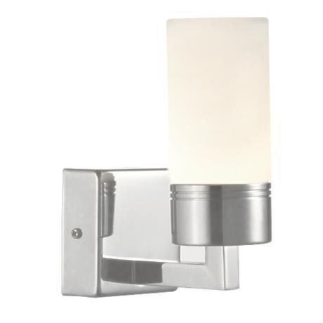 Markslöjd Seinävalaisin Viskan 60x160 mm teräs/opaali IP44 (kylpyhuonevalaisin)