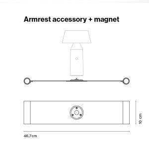 Marset Armrest Accessory + Magnet
