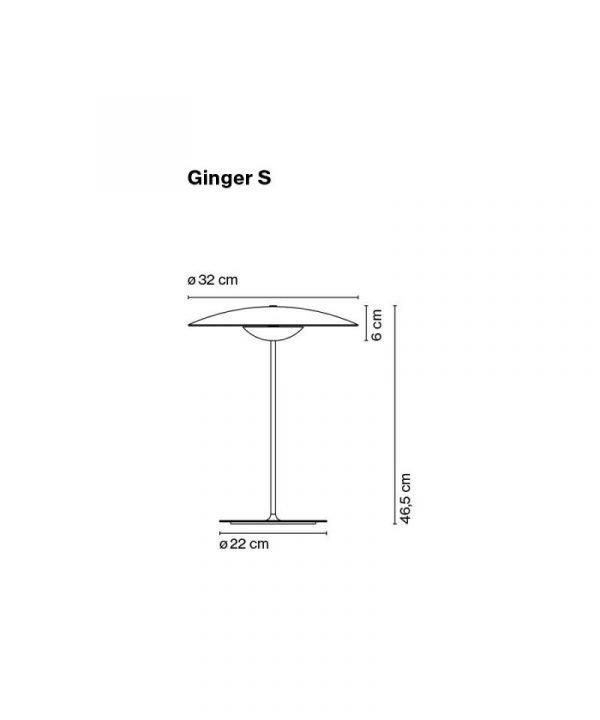 Marset Ginger S Pöytävalaisin Wenge