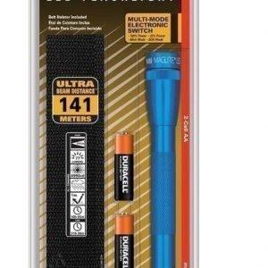 Mini Mag LED 2AA sininen (Cree LED. Sis.paristot+vyötup)