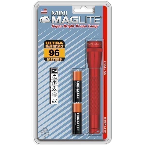Mini Maglite AA XENON punainen