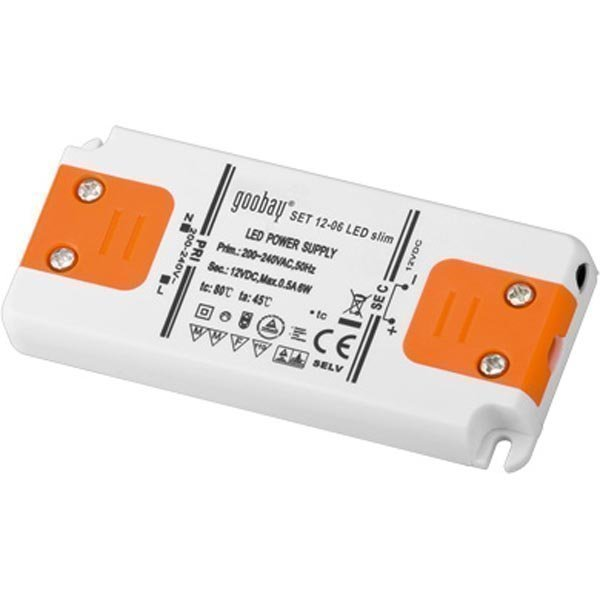 Muunnin LED-valaistukseen 6W 230V AC 12V DC IP20
