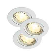 Nordlux Recess 3-Kit LED Hi-P Alasvalovalaisin Valkoinen 3X35W GU10 IP23