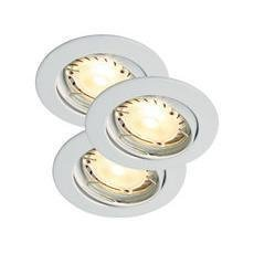 Nordlux Triton LED Hi-Power Alasvalo Valkoinen 3X35W GU10 IP23