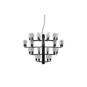 Normann Copenhagen Amp Chandelier Large Riippuvalaisin Smoke / Black