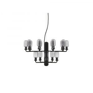 Normann Copenhagen Amp Chandelier Small Riippuvalaisin Smoke / Black