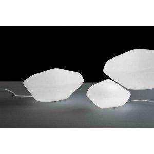 Oluce Stone Of Glass Pöytävalaisin Medium