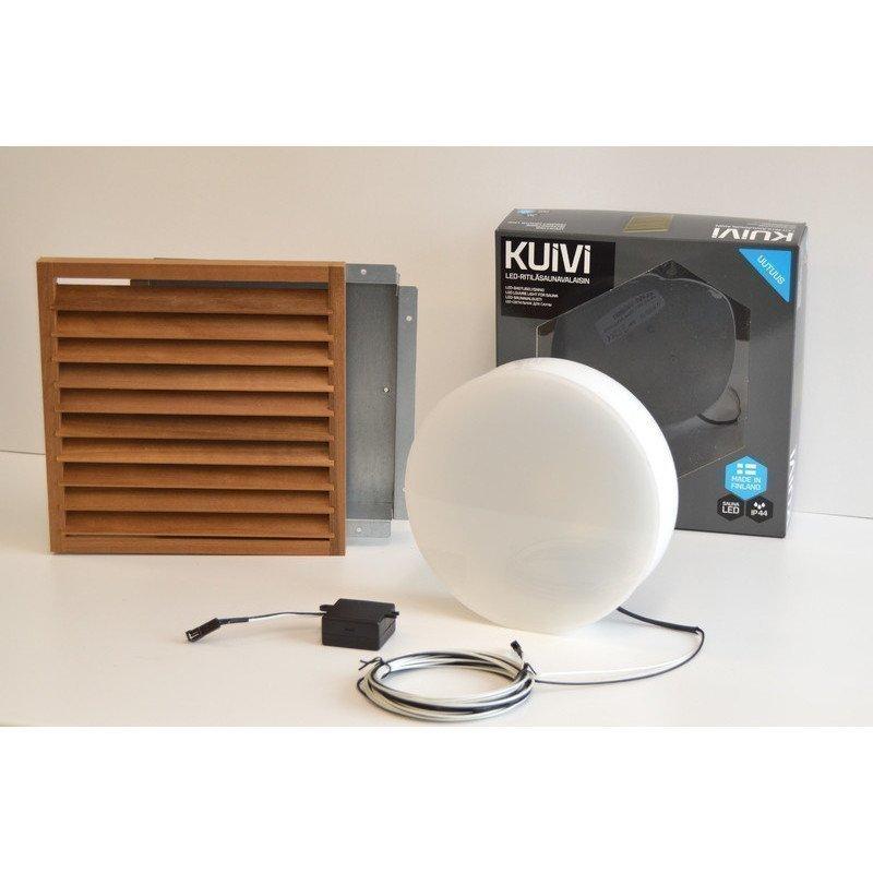 Overled Kuivi LED-saunavalaisin 3000K Lämpö Haapa uppo-asennus + 5m liitosjohto (4128436)