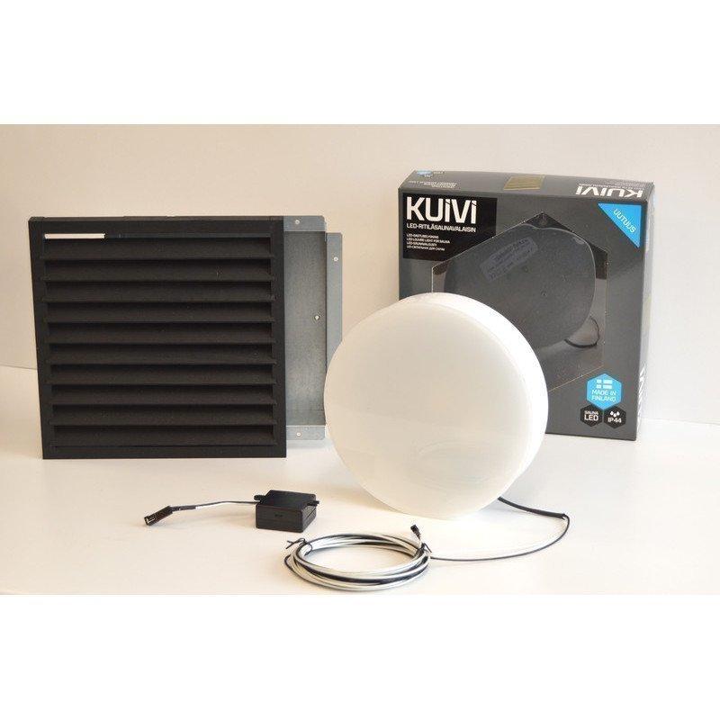 Overled Kuivi LED-saunavalaisin 3000K Musta uppo-asennus + 5m liitosjohto (4128435)