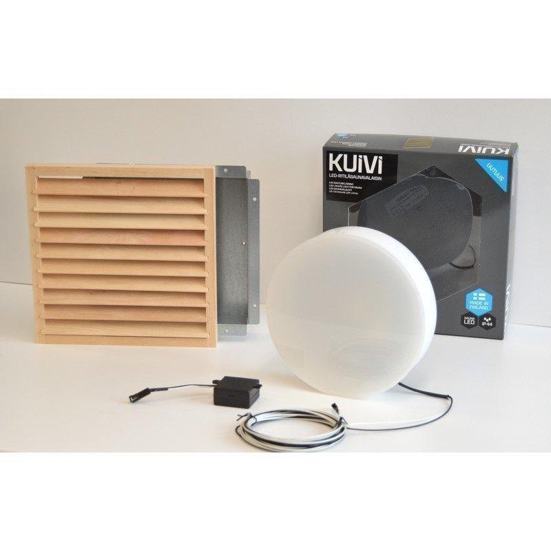 Overled Kuivi LED-saunavalaisin 3000K Vaalea Leppä uppo-asennus + 5m liitosjohto (4128433)