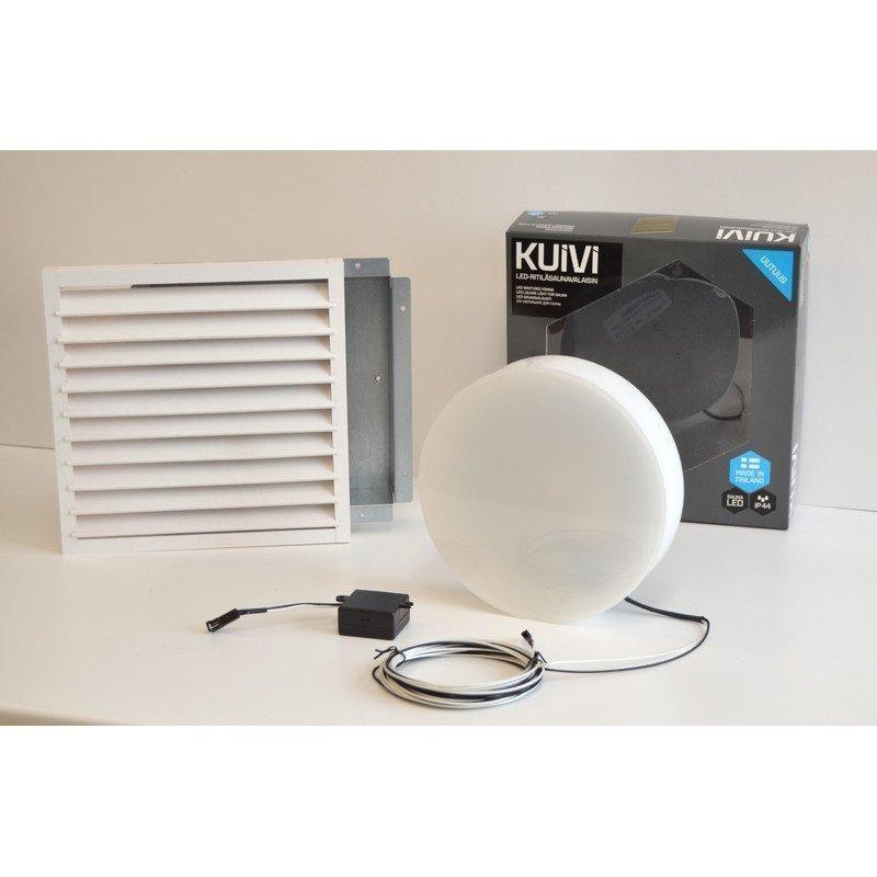 Overled Kuivi LED-saunavalaisin 3000K Valkoinen uppo-asennus + 5m liitosjohto (4128434)