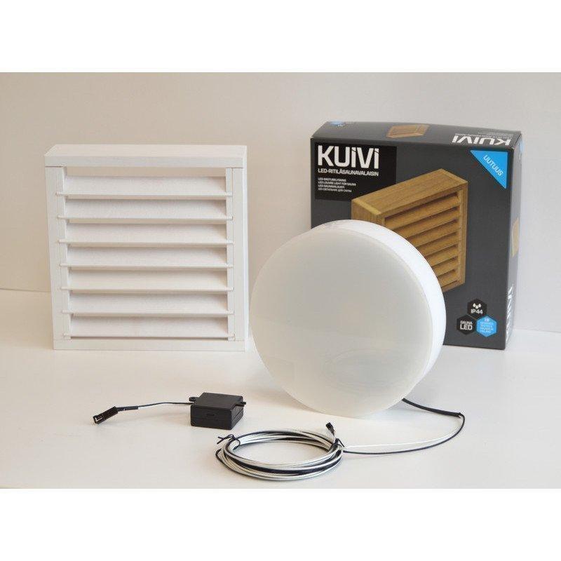 Overled Kuivi LED-saunavalaisin 3000K valkoinen pinta-asennus + 5m liitosjohto (4128430)