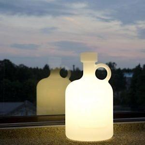 Pöytävalaisin Bottle of Light IP44 valkoinen ulkokäyttöön