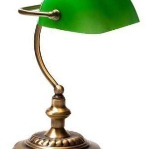 Pöytävalaisin Pankkiiri 260x340 mm vihreä/antiikkimessinki