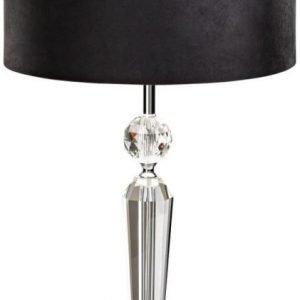Pöytävalaisin Pasiano 66 cm kristalli musta/hopea
