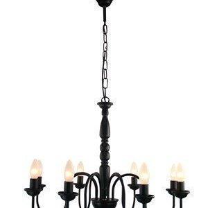 PR Home Bergen Kattokruunu Musta 8 Kynttilä 65cm