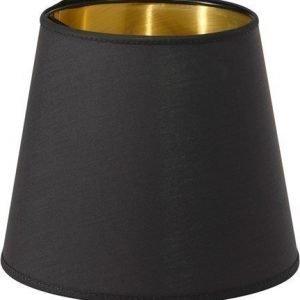PR Home Cia Lampunvarjostin Musta/Kulta 20cm
