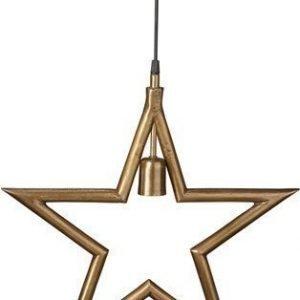PR Home Metalliitähti Raakamessinki 45cm