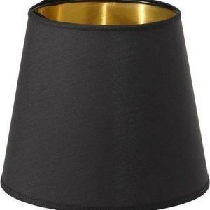 PR Home Mia L Lampunvarjostin Musta/Kulta 24 cm