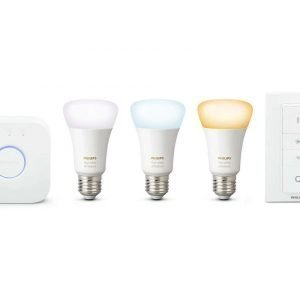 Philips Hue White Ambiance 3 Bulb + Switch + Bridge Setti