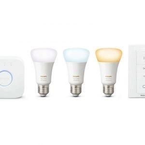 Philips Hue White Ambiance 3 Bulb + Switch + Bridge Setti