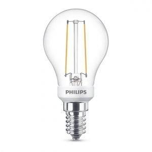 Philips Lamppu Led 3w Lasi Mainoslamppu 250lm Himmennettävissä E14