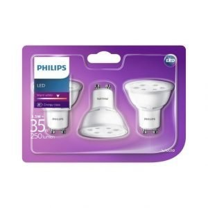 Philips Led 3.5 W Gu10 Spottivalo 3 Pack
