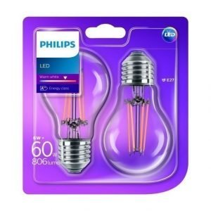 Philips Led 60 W E27 Lamppu 2 Kpl