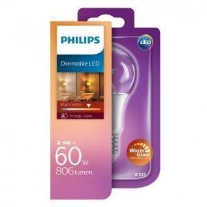 Philips Led Lamppu 9w 60w E27 A60 Warm Glow