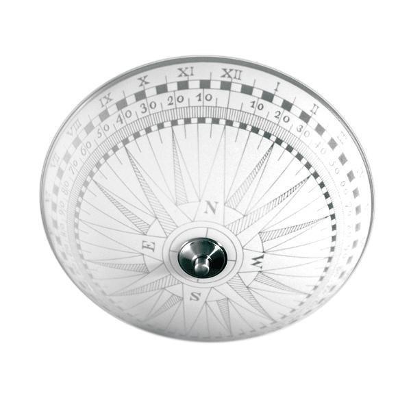 Pholc Plafondi Kompass Ø 360x170 mm lasi valkoinen kuvioitu