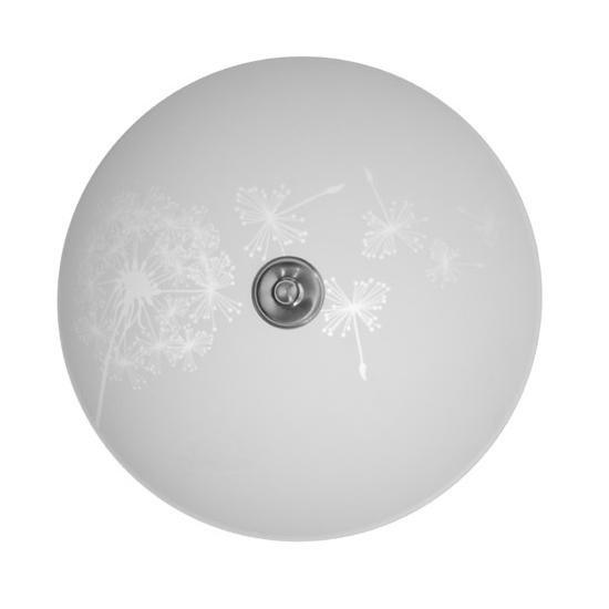 Pholc Plafondi Maskros Ø 360x170 mm lasi valkoinen kuvioitu