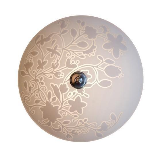Pholc Plafondi Melody Ø 400x200 mm lasi valkoinen kuvioitu