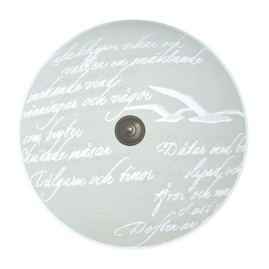 Pholc Plafondi Poetry Ø 400x200 mm lasi valkoinen kuvioitu