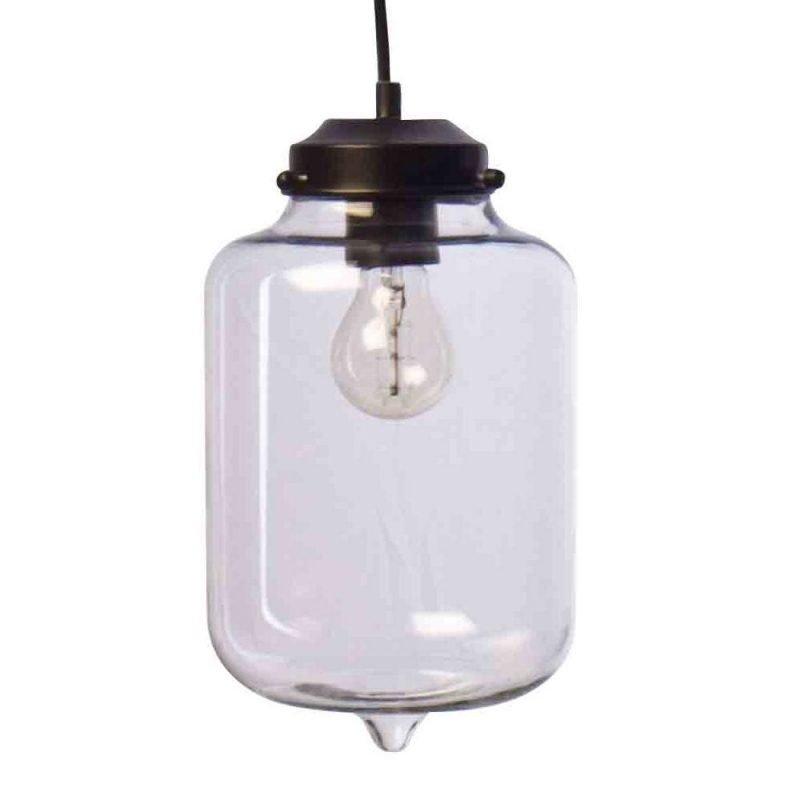 Pholc Riippuvalaisin Merci Ø 170x300 mm kirkas lasi/musta