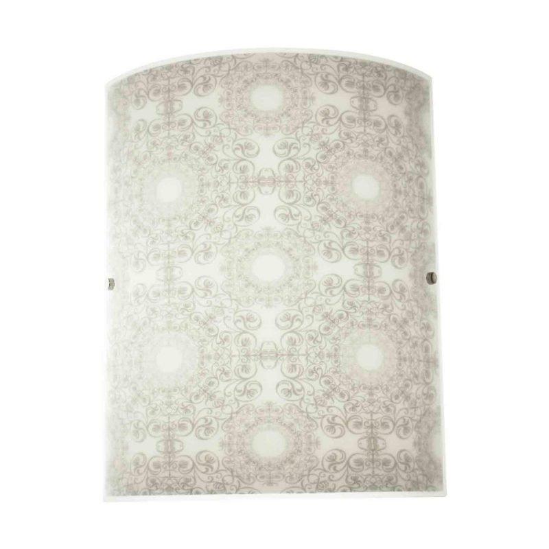 Pholc Seinävalaisin Dream 300x380 mm lasi valkoinen/harmaa kuvioitu