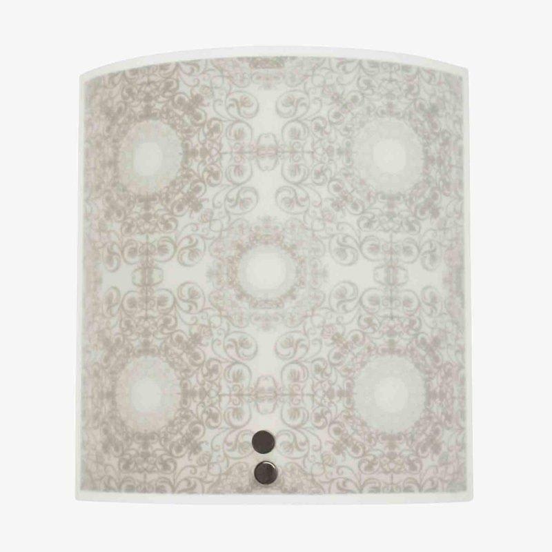Pholc Seinävalaisin Dream XS 200x220 mm lasi valkoinen/harmaa kuvioitu