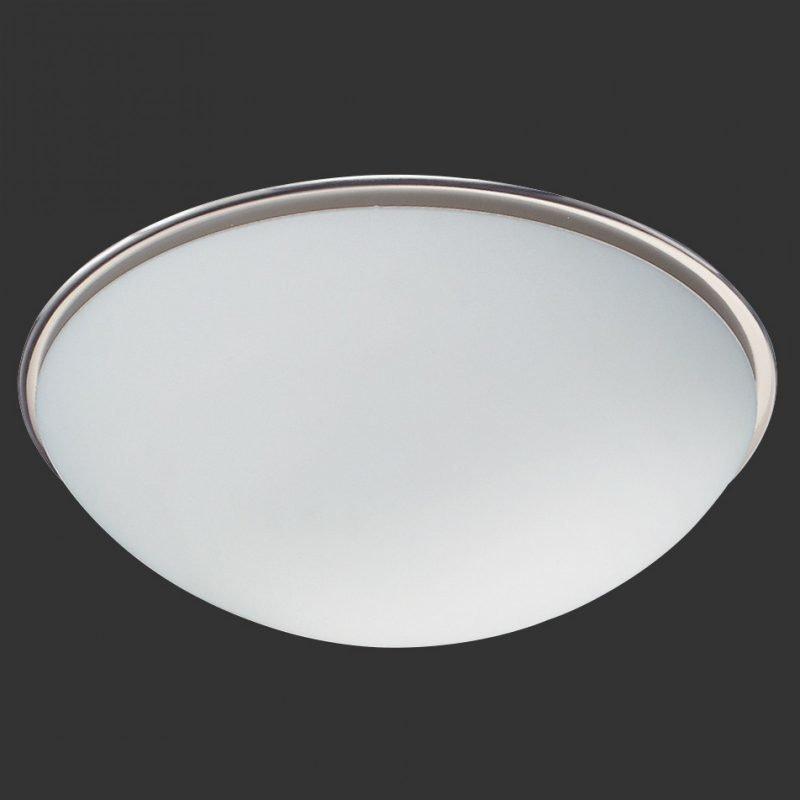 Plafondi Serie 6107 Ø 400x140 mm harjattu teräs/opaalilasi