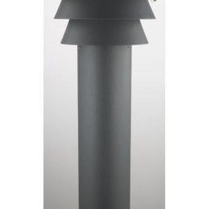 Pollarivalaisin Ludvika Ø 225x1100 mm pyöreä harmaa