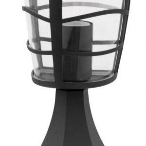 Porttilyhty Aloria 170x170x300 mm musta/kirkas