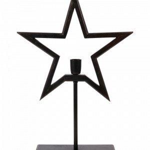 Pr Home Farm Star On Base Pöytätähti 65cm Musta
