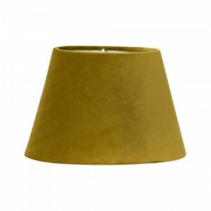 Pr Home Lampunvarjostin Soikea Samettia Keltainen 20 Cm