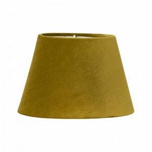 Pr Home Lampunvarjostin Soikea Samettia Keltainen 25 Cm