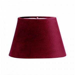 Pr Home Lampunvarjostin Soikea Samettia Punainen 20 Cm