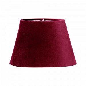 Pr Home Lampunvarjostin Soikea Samettia Punainen 25 Cm